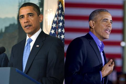 obama then and now