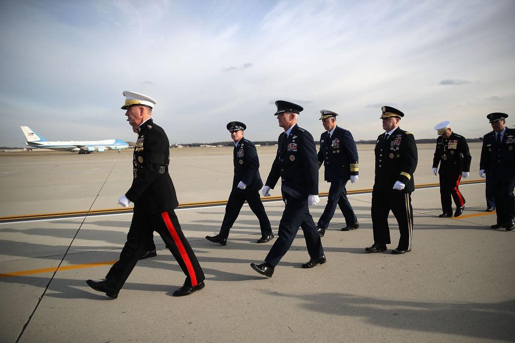Walking military