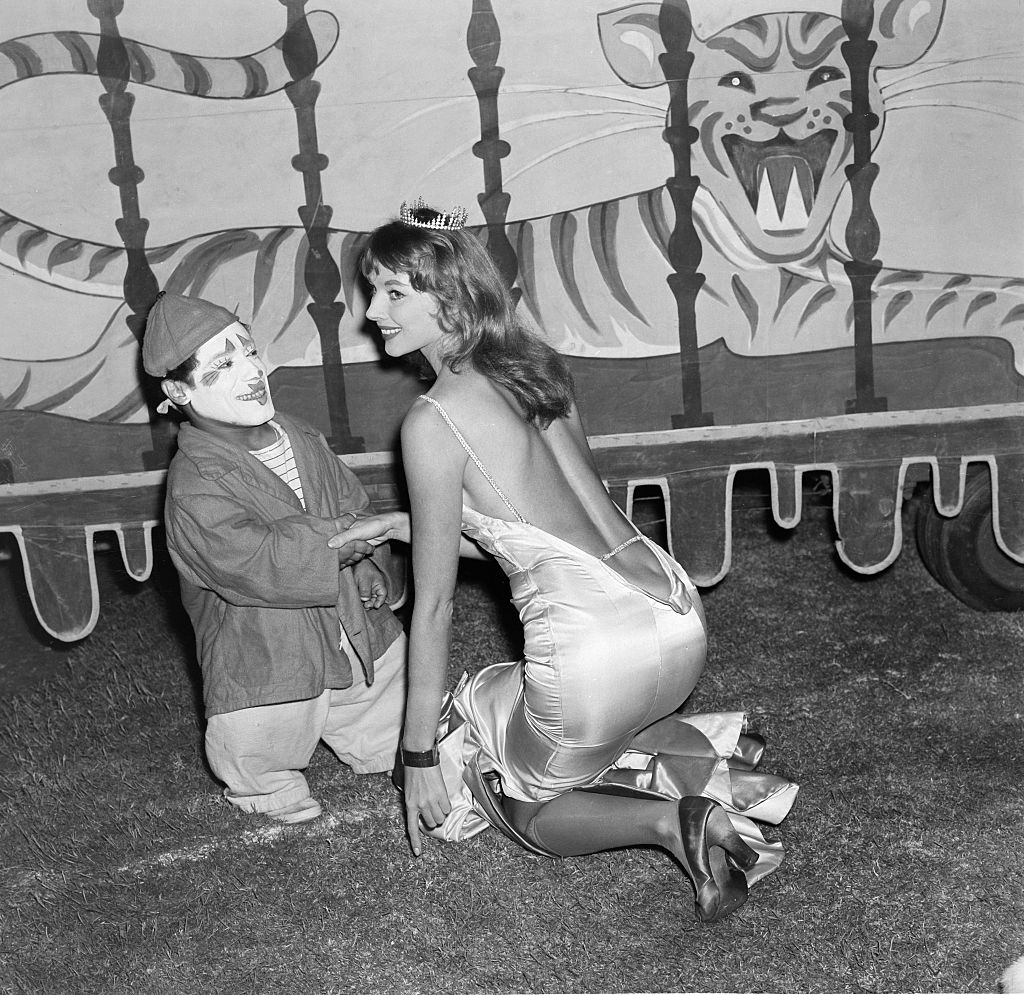 vikki dougan and a clown