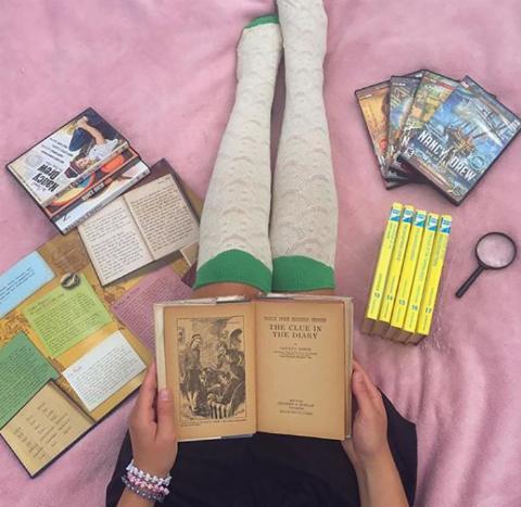 girl-reading-nancy-drew