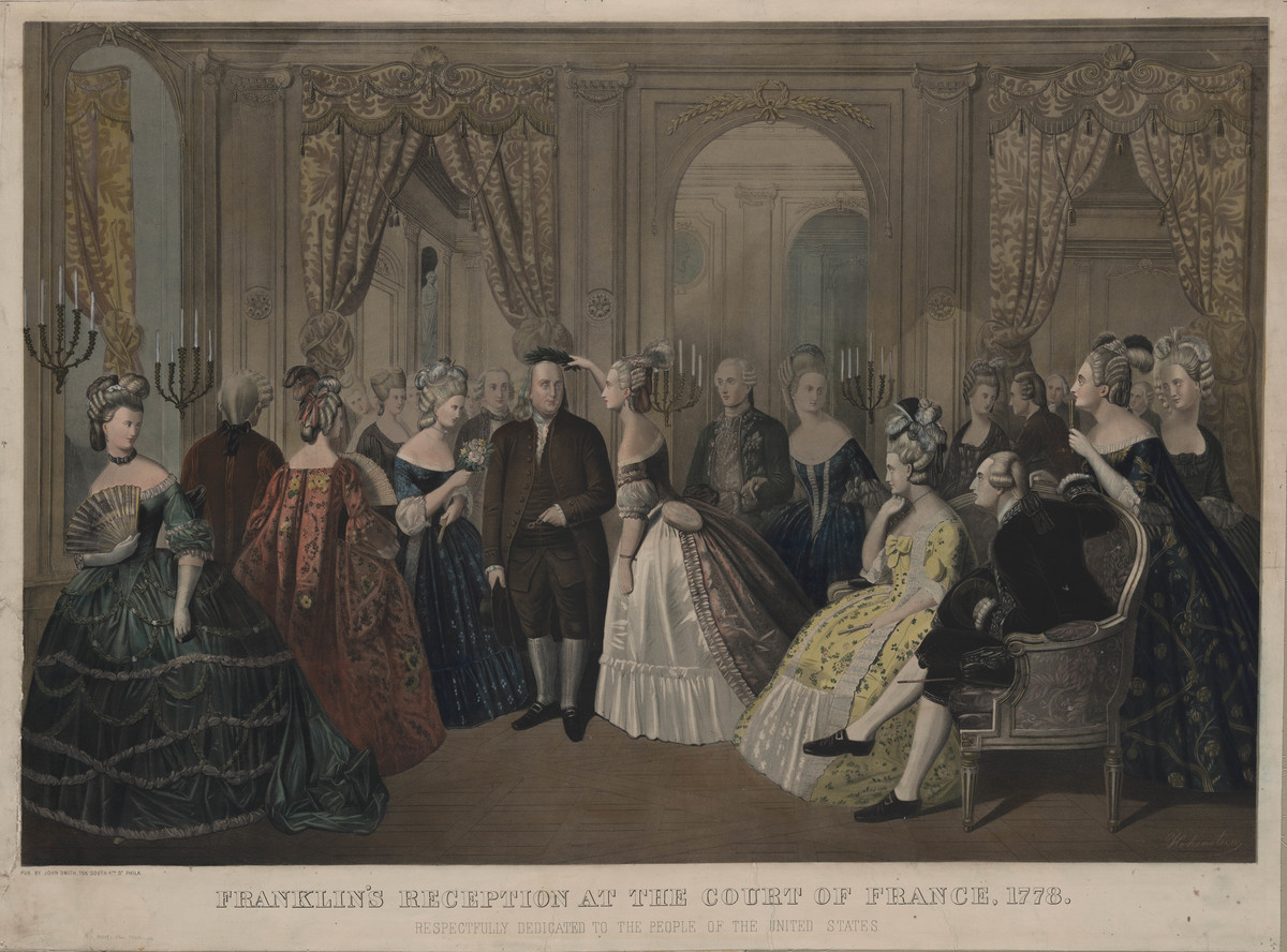 Franklins Reception At The Court Of France