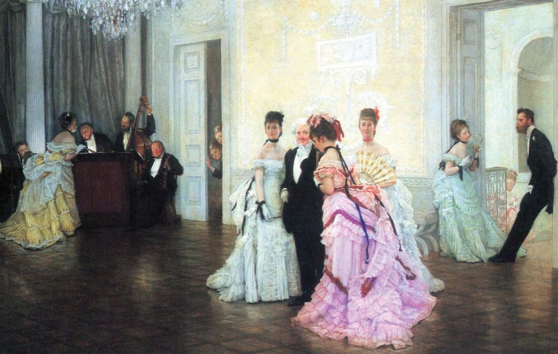 large ballroom 1865. By James Tissot.