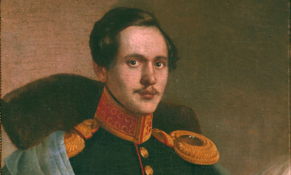 Portrait of the poet Mikhail Lermontov  (1814-1841), 1834. Found in the collection of the Institut of Russian Literature