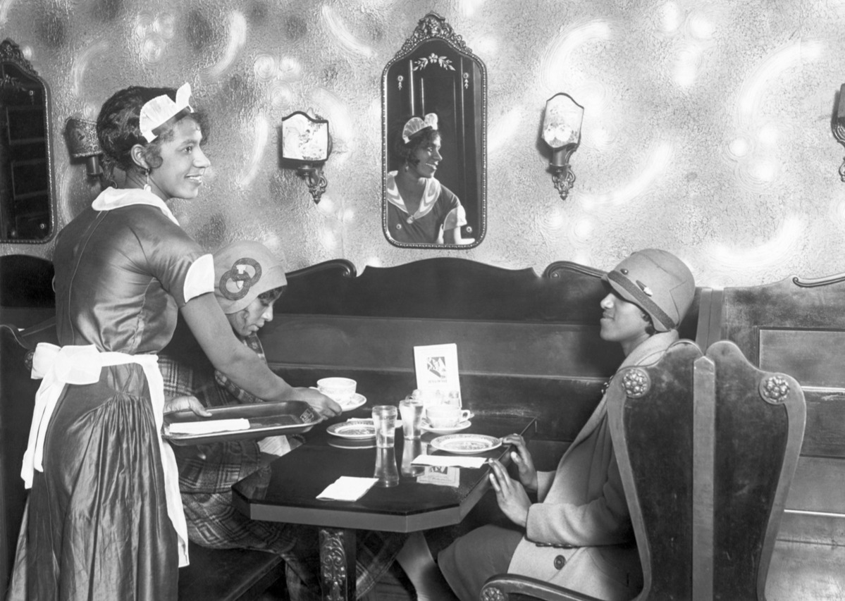 Women Being Served In Cafe circa 1920 women job restrictions 1920s