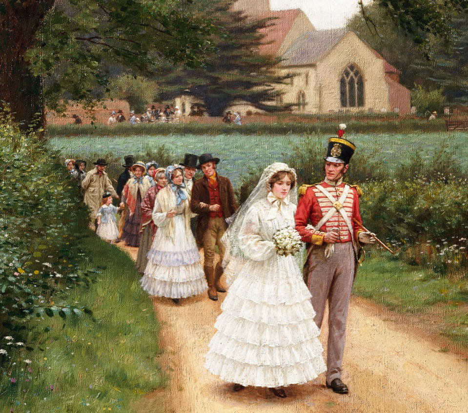 The Wedding March by Edmund Blair Leighton Victorian marriage etiquette