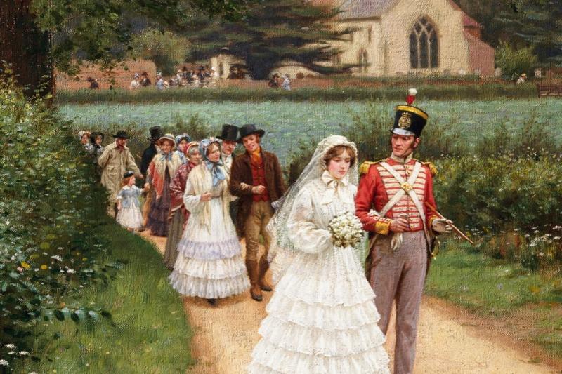 The Wedding March by Edmund Blair Leighton Victorian marriage etiquette