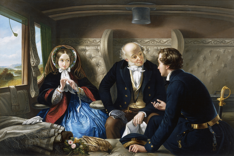 Traveling First Class by Abraham Solomon puns vulgar language victorian era