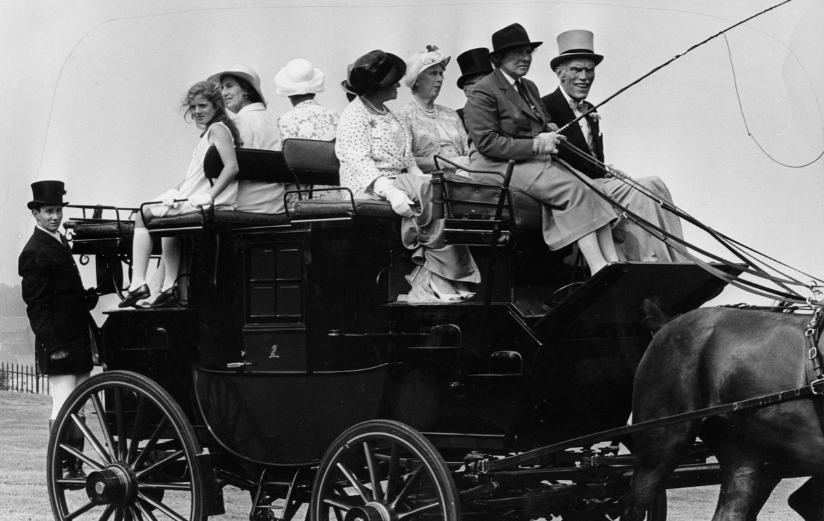 Caroline Kennedy In 1968 horse-drawn carriage