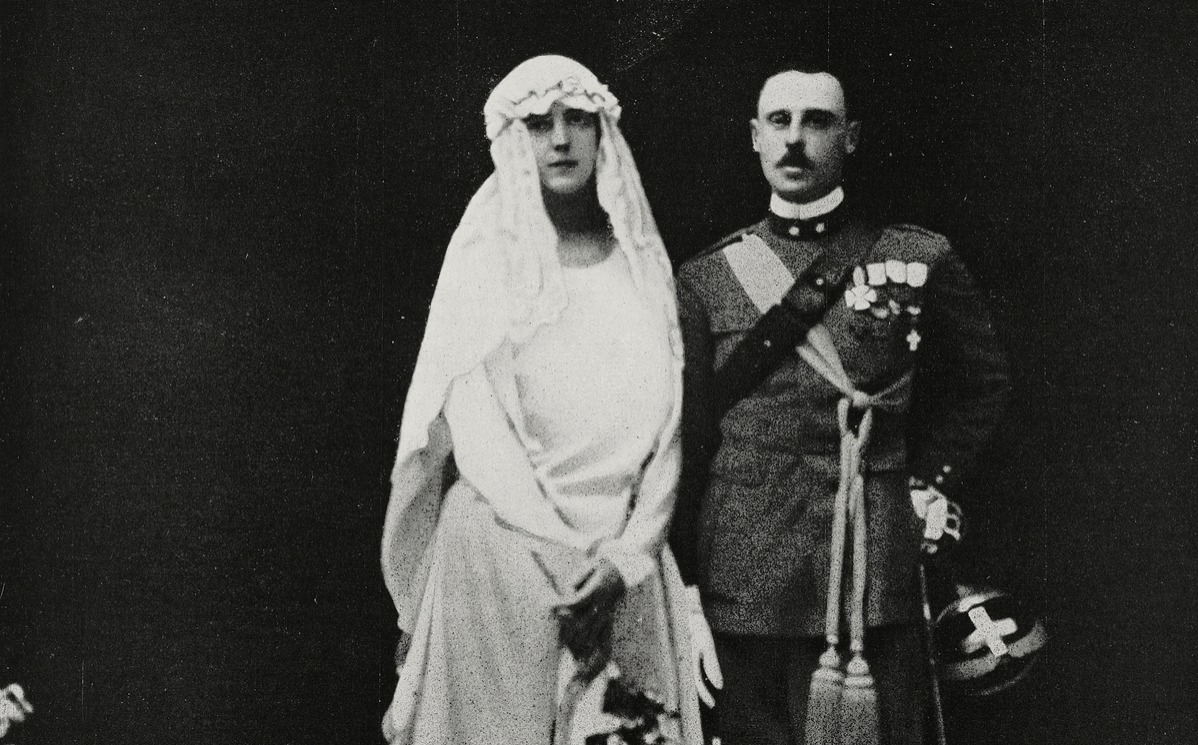 Wedding of Princess Yolanda of Savoy and Count Carlo Calvi of Bergolo's wedding, Italy, April 9, 1923
