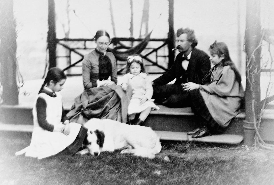 Mark Twain With Family circa 1865