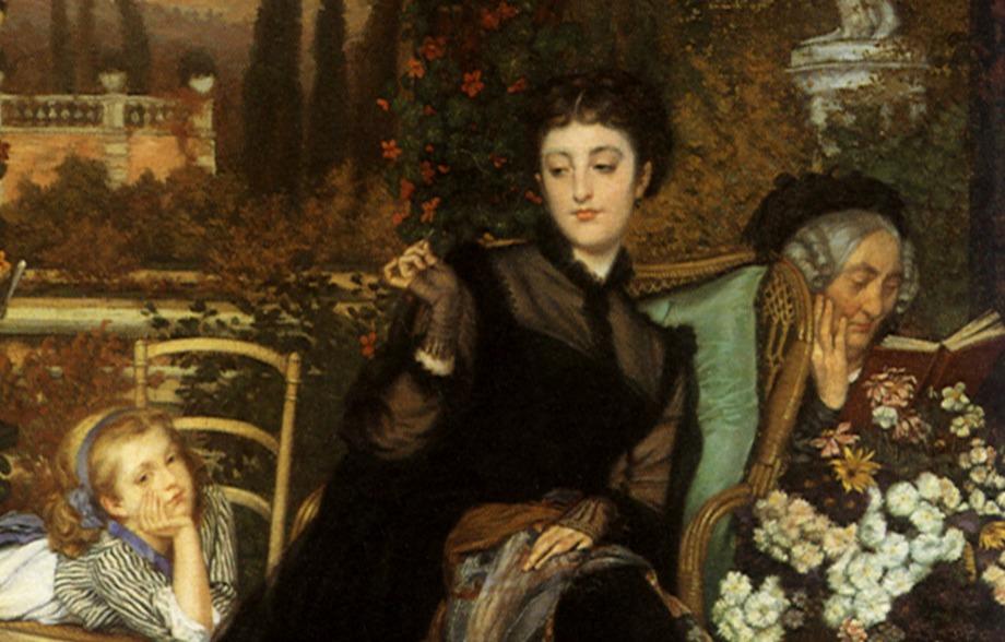 Widow, A (Une Veuve) Tissot, James Jacques Joseph, 1868 Victorian swear words