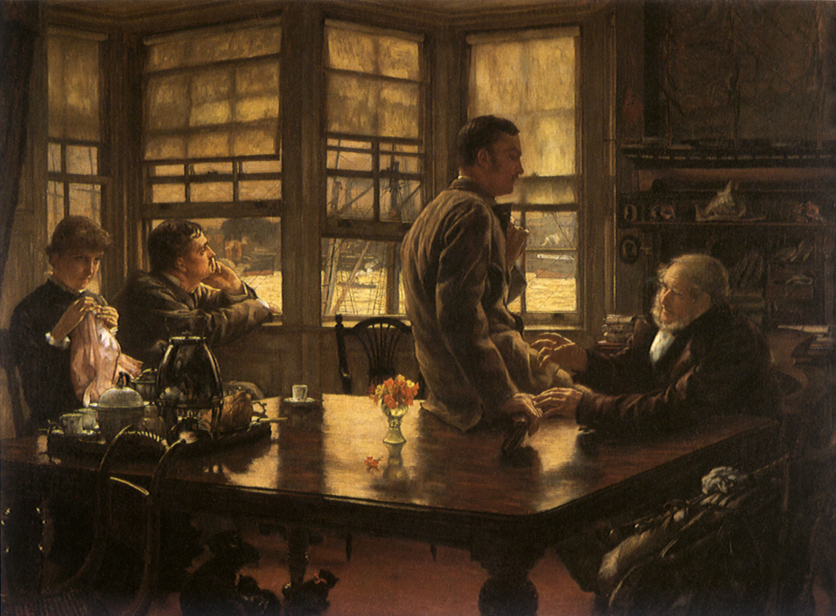 Prodigal Son in Modern Life, The: The Departure Tissot, James Jacques Joseph, 1882 .