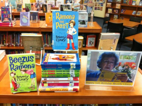 A bookstore with a Beverly Cleary display