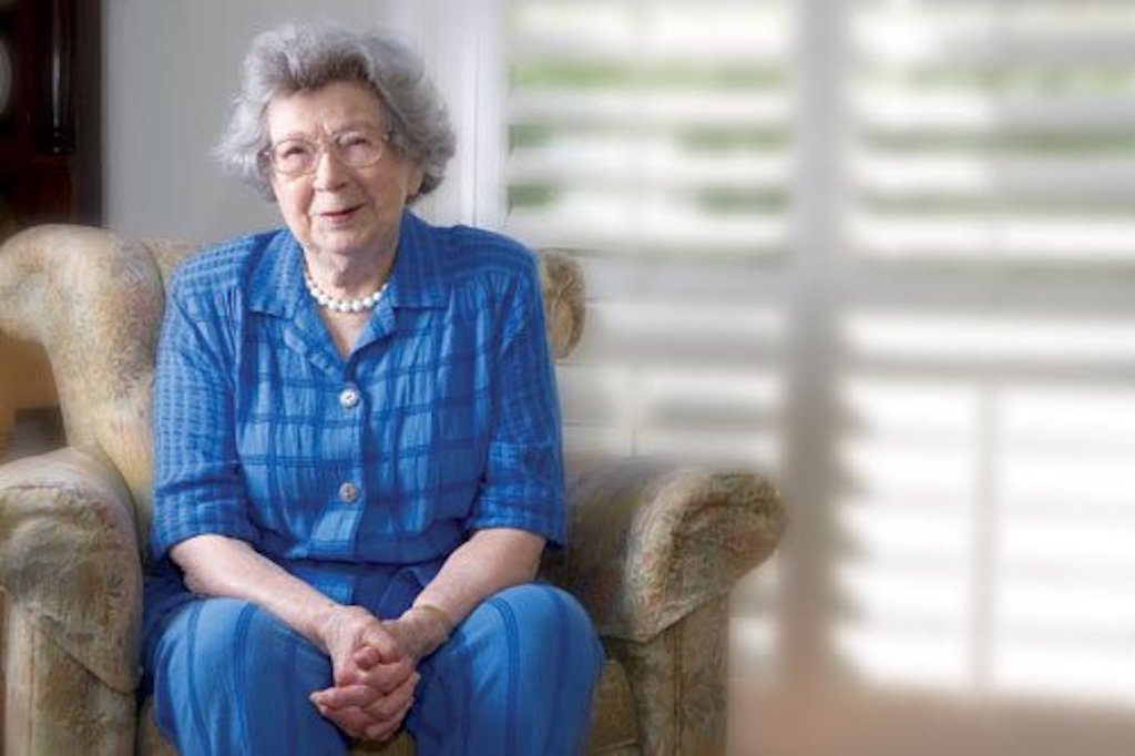 Beverly Cleary gives an interview