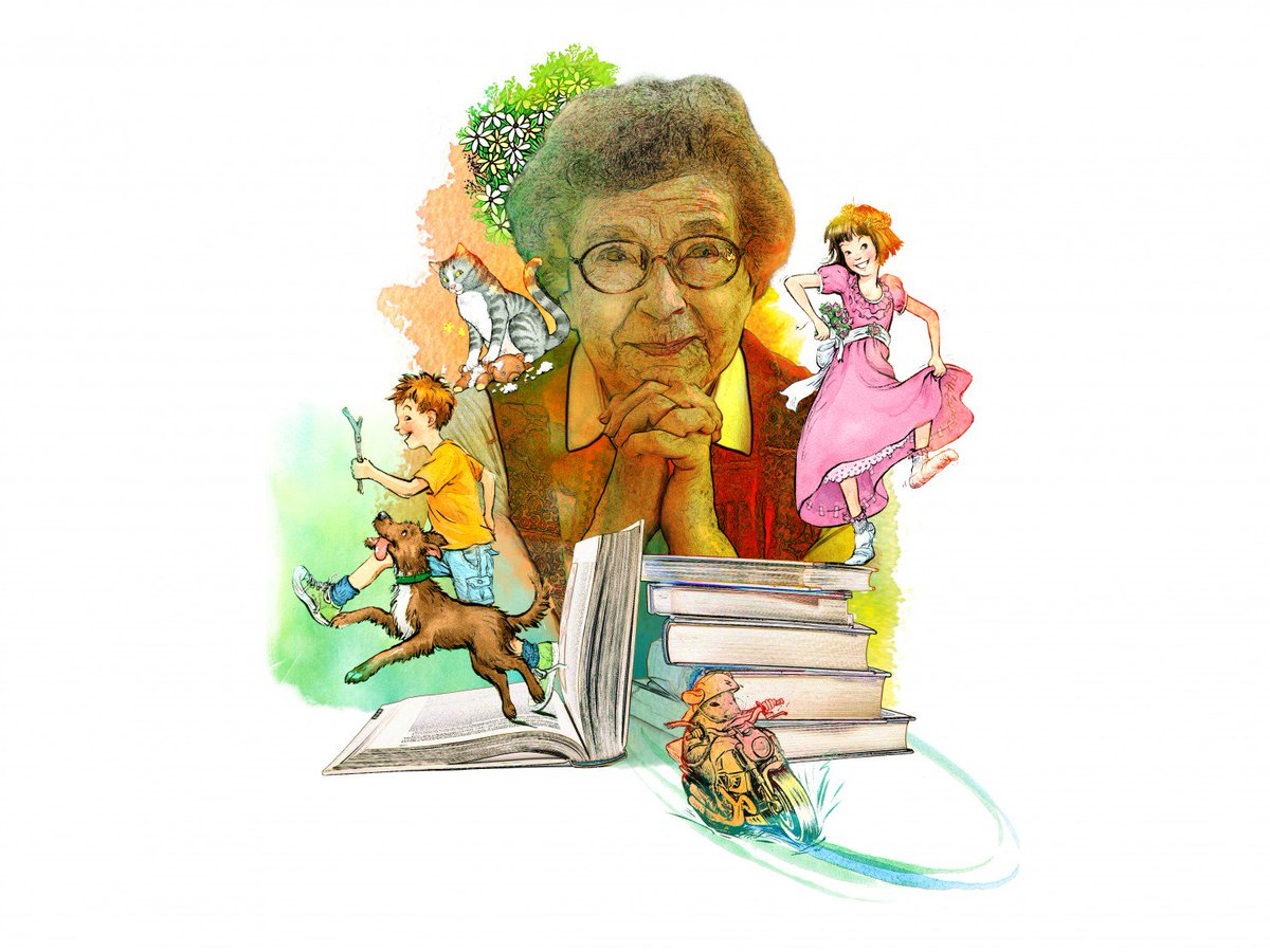 A painting of Beverly Cleary