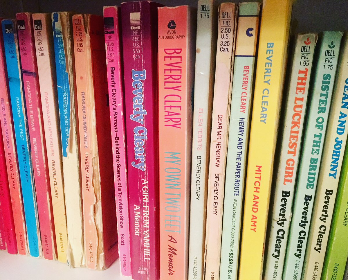 A row of Beverly Cleary's books