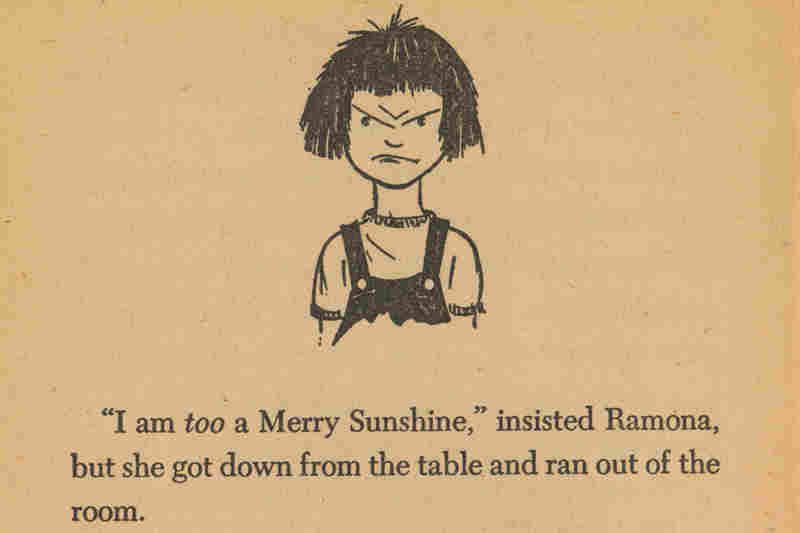 Drawing of a grumpy Ramona