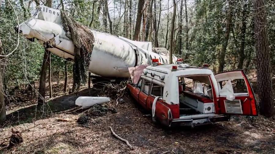 plane-ambulance-woods