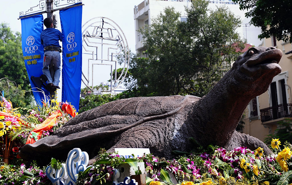 Statue of giant turtle