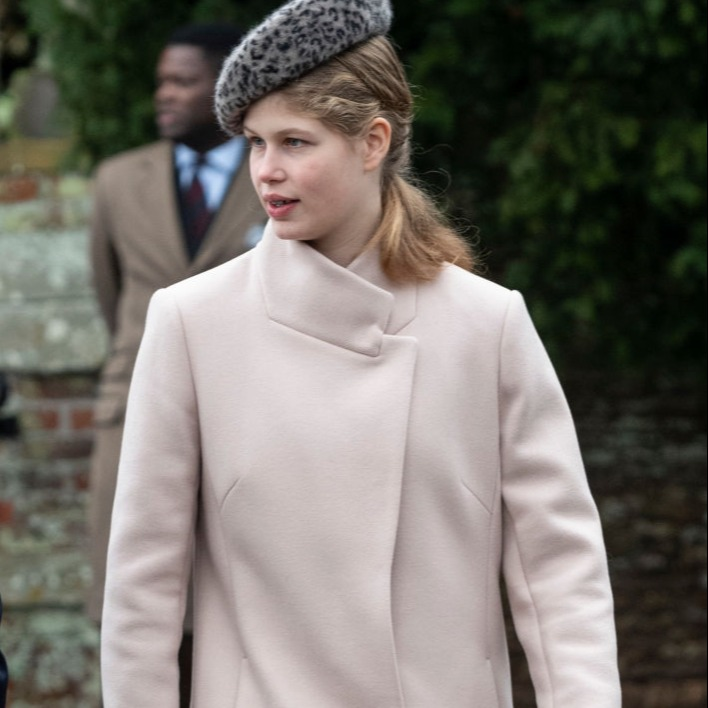 Lady Louise Windsor attends Christmas Day Church service at Church of St Mary Magdalene on the Sandringham estate on December 25, 2018