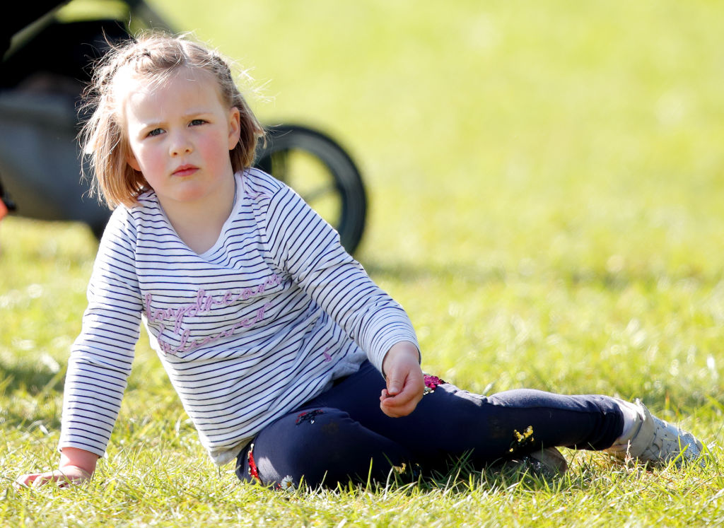Mia Tindall attends the Gatcombe Horse Trials at Gatcombe Park on March 24, 2019 in Stroud, England