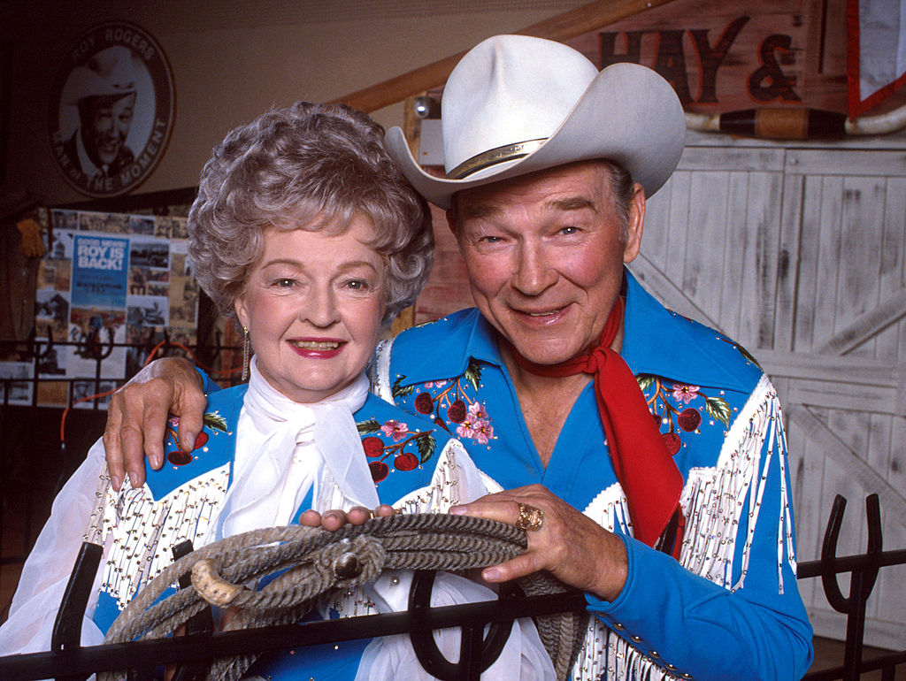 Roy Rogers And Dale Evans In Blue