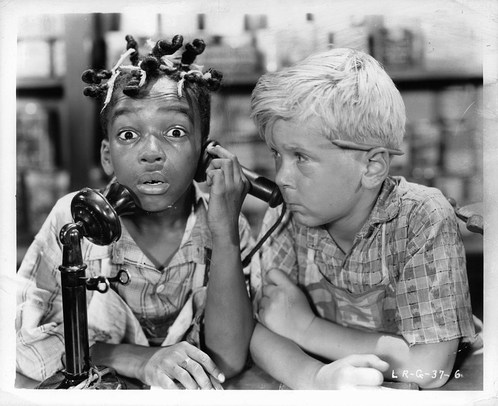 Allen 'Farina' Hoskins on phone with Jackie Cooper