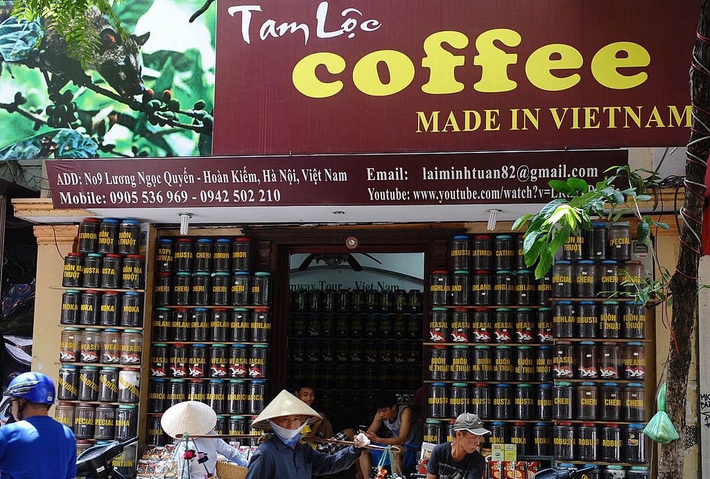 Picture of a coffee production store