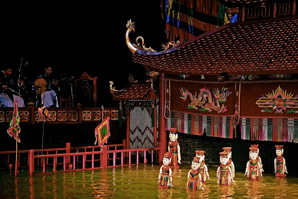 Picture of water puppet show
