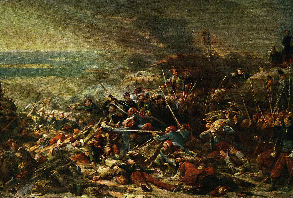 The Battle of Malakoff between France & Russia on 7 September 1855. Part of the Siege of Sevastopol, during the Crimean War.