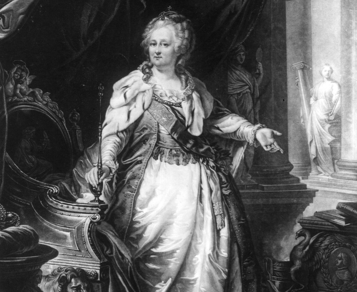 Empress of Russia Catherine II (1729-1796), known as Catherine the Great for her many reforms to modernise Russia.