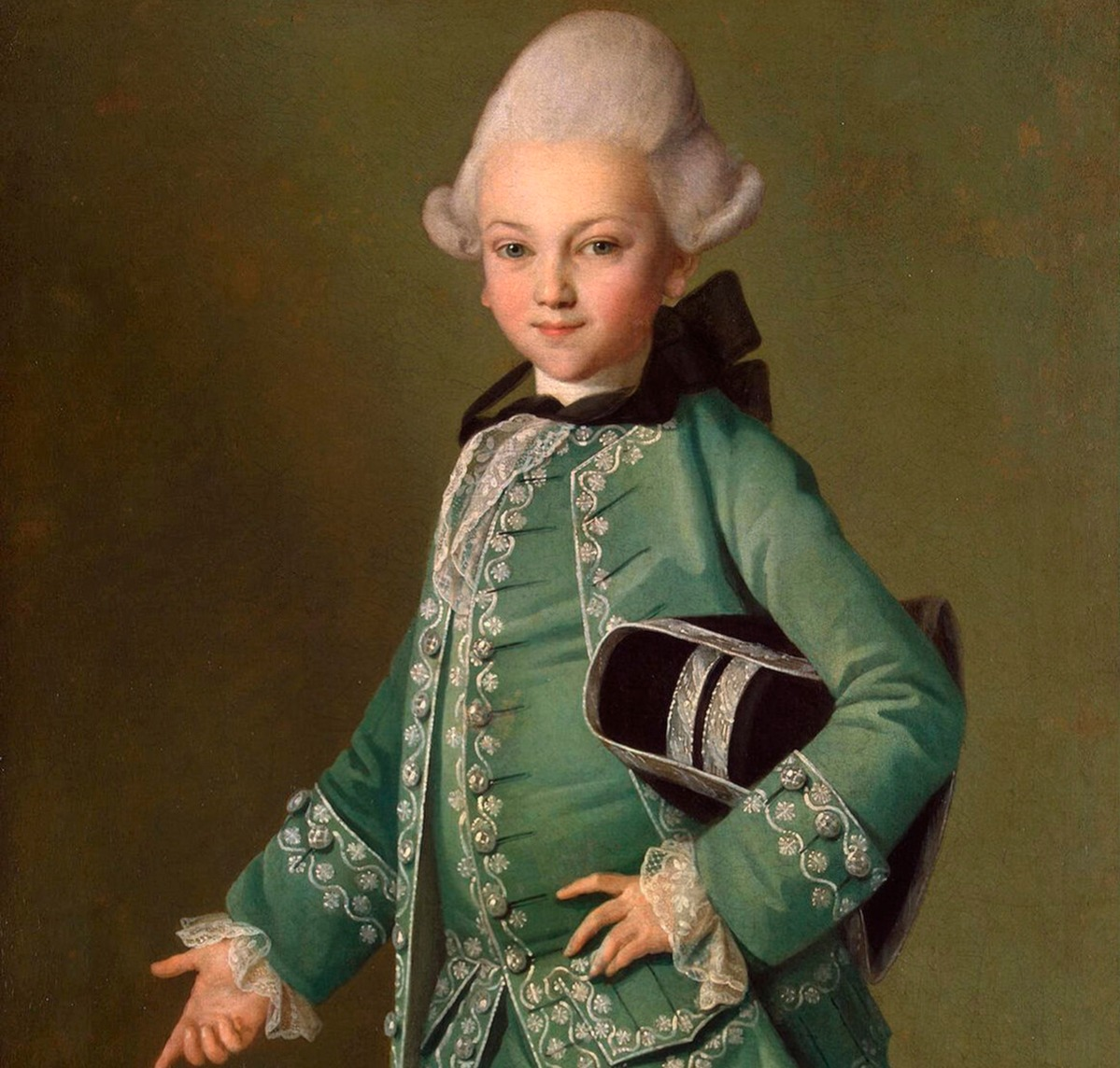 Portrait of Count Alexei Bobrinsky as a Child', 1769. Christineck, Carl Ludwig Johann (1732/3-1792/4). Found in the collection of the State Hermitage, St. Petersburg.