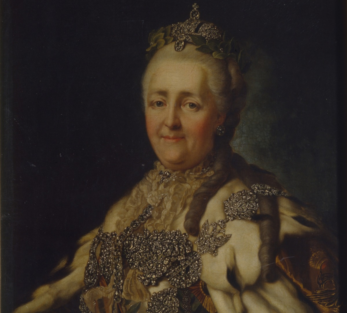 Portrait of Empress Catherine II (1729-1796). Found in the collection of the Regional Art Museum, Vinnytsia.