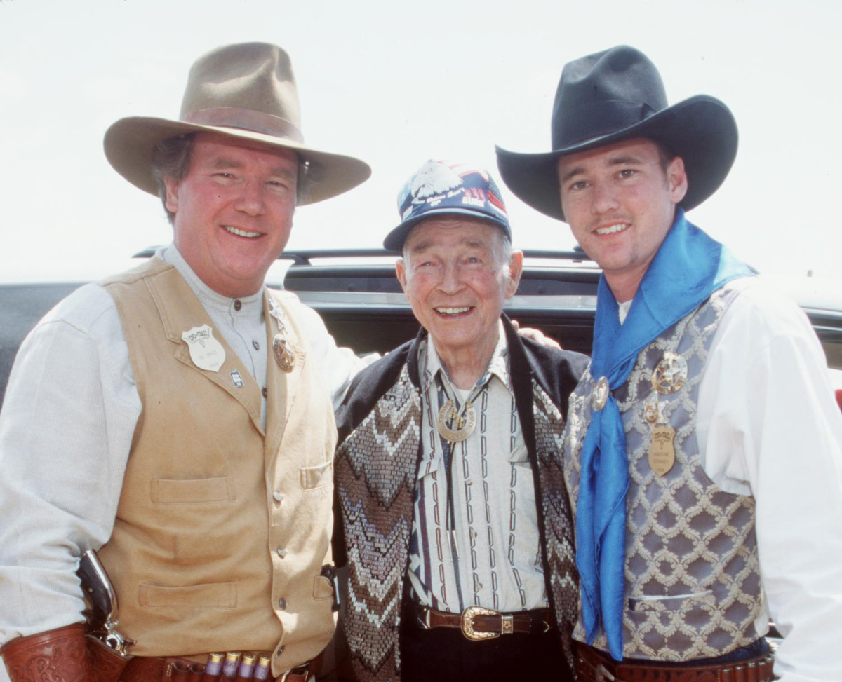 roy rogers with dusty and grandson