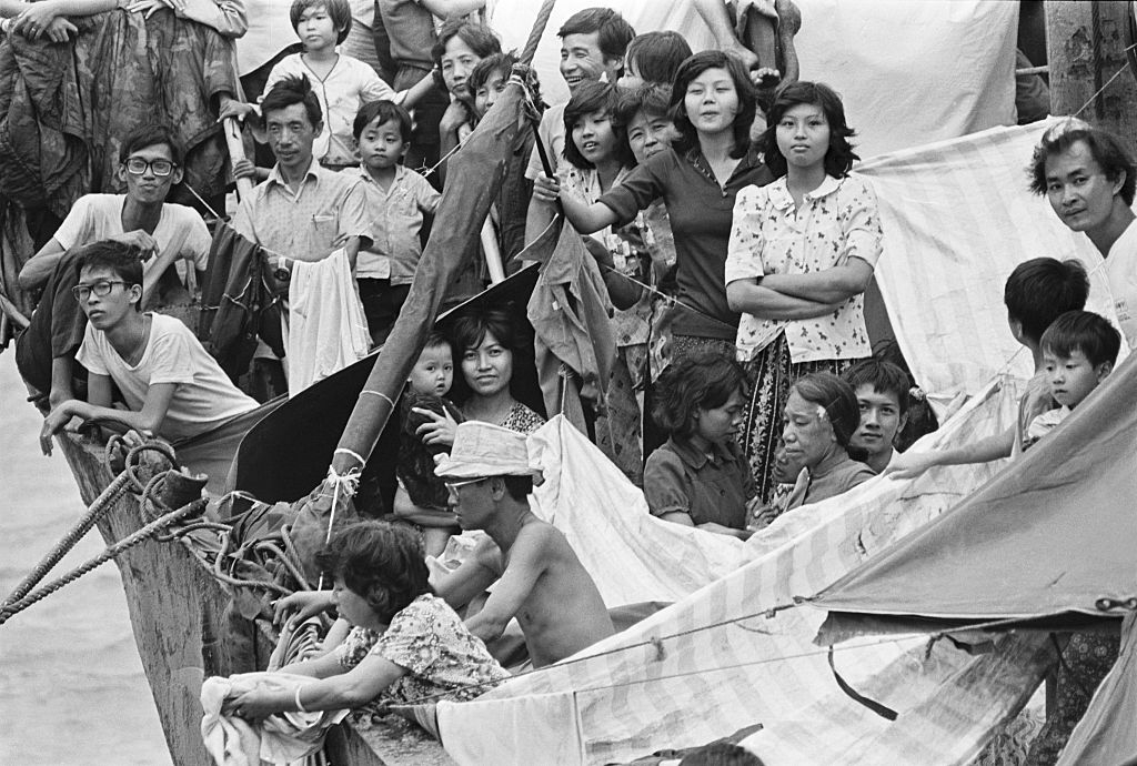 Manila, Philippines 2500 of the Vietnamese refugees are crowded together