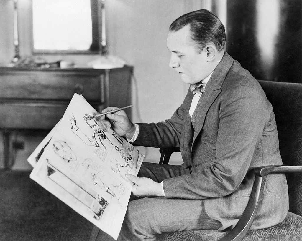 Robert Ripley, famous cartoonist whose Believe it or Not drawings are attracting nation wide attention, as he appeared in Boston where he will make a one week stage appearance.