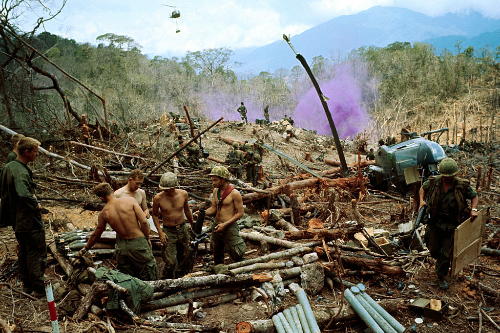 Soldiers in the wreckage of the Vietnam War