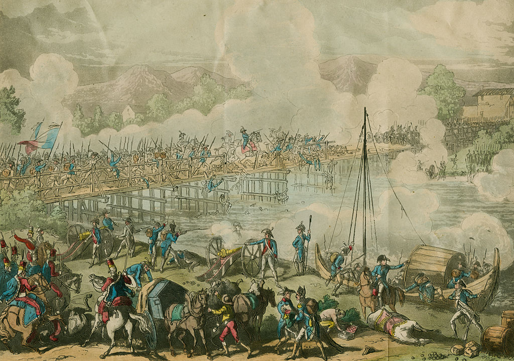 Napoleon Bonaparte and the French Army of the Republic defeats the Austrian army led by Karl Philipp Sebottendorf at the crossing and Battle of Lodi