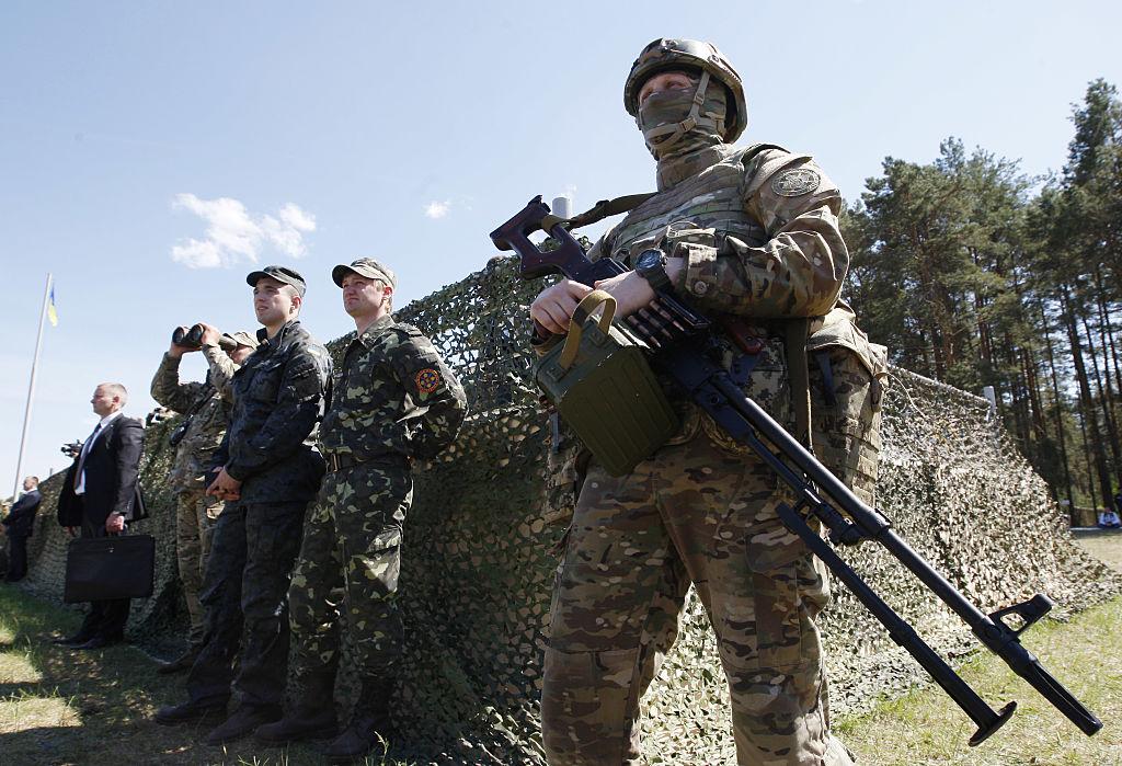 soldier gun