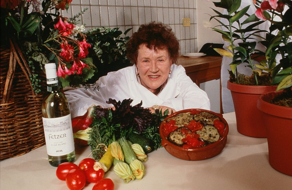 Legendary chef, cookbook author and television star, Julia Child, poses during a 1990 Hopland, California, photo portrait session