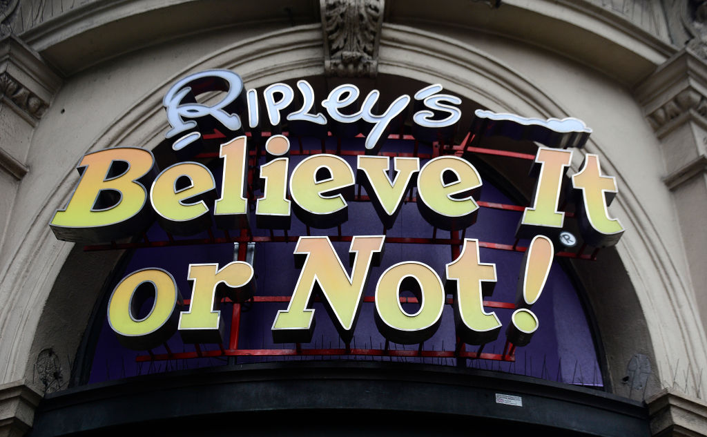The Ripley's Believe It or Not! museum sign