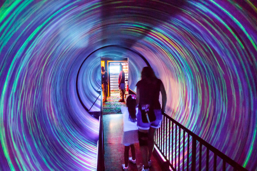 A spinning tunnel inside Ripley's Believe It or Not!