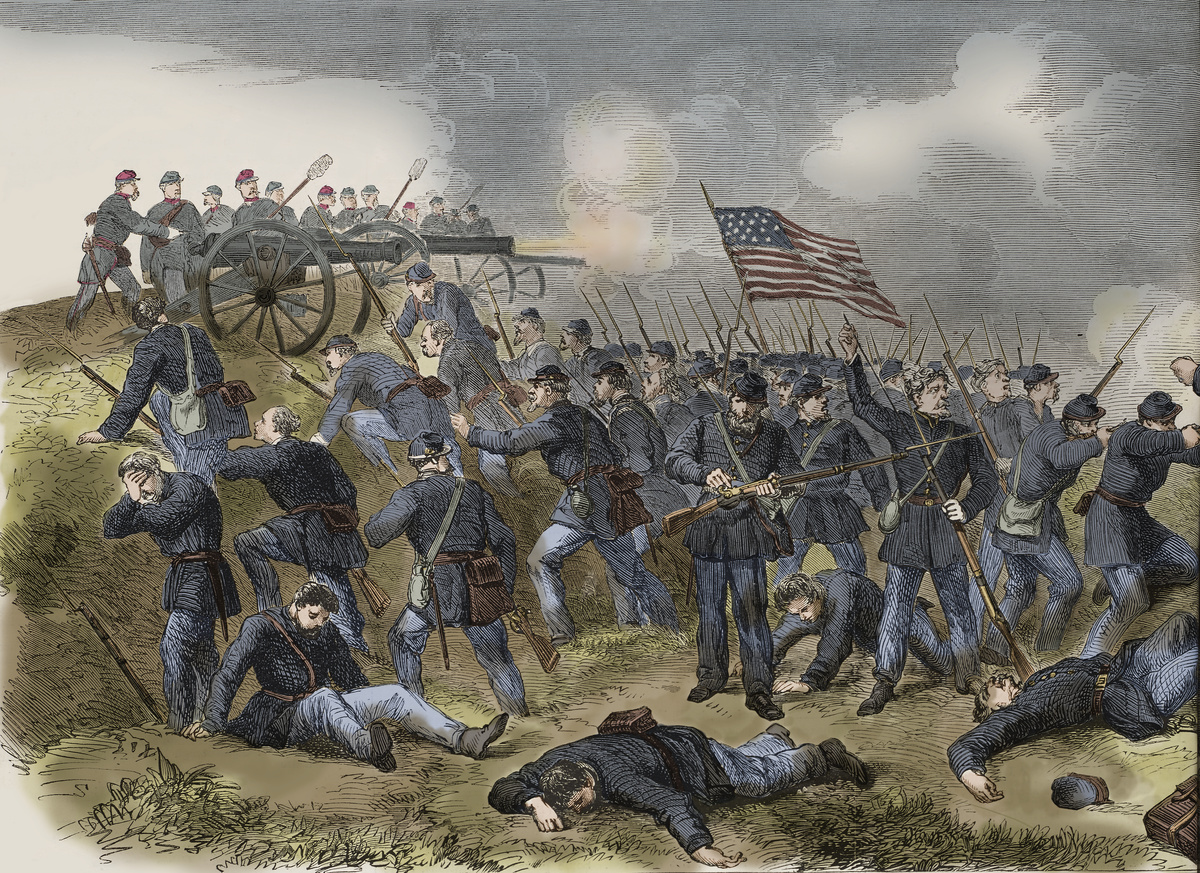 he Federals' last stand at Manassas, Virginia 1862.