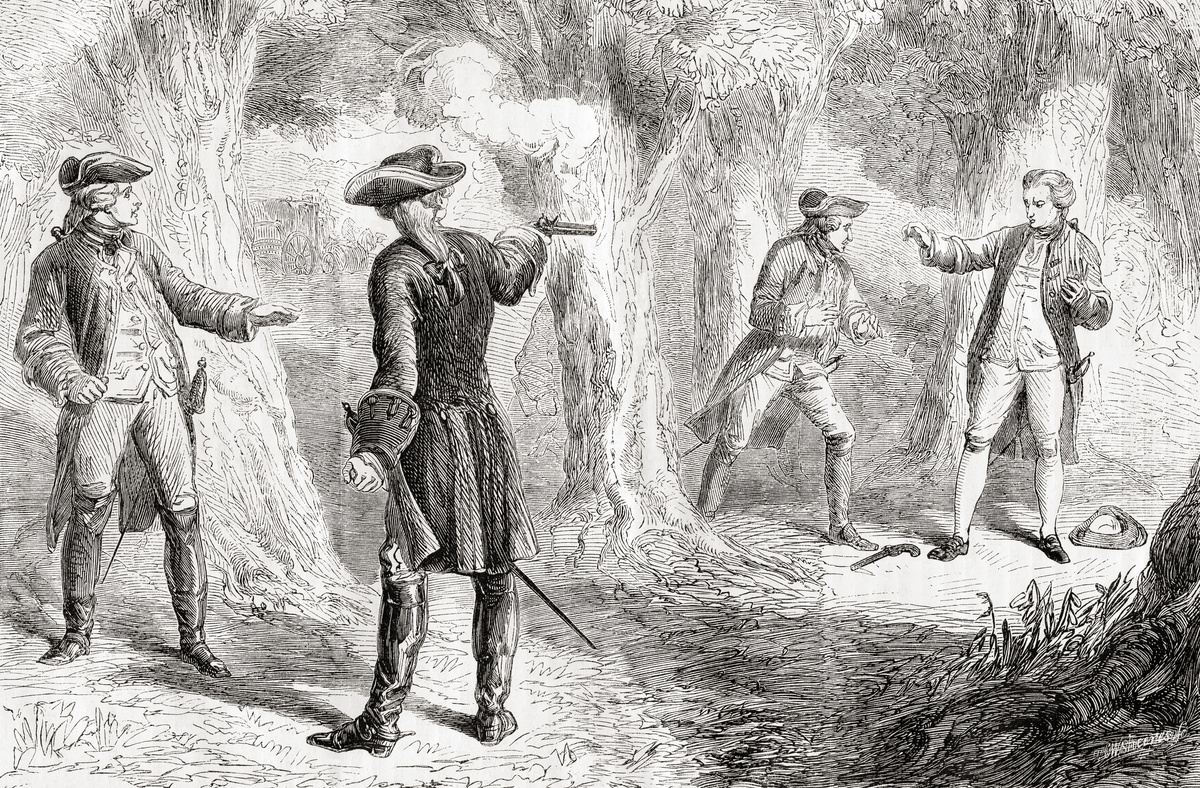 The duel between John Wilkes and Samuel Martin in Hyde Park