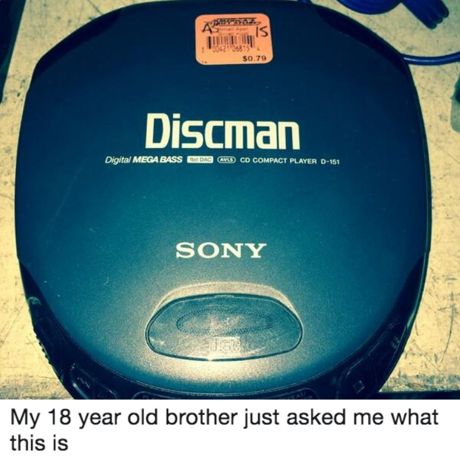 a discman is so cheap only 79 cents