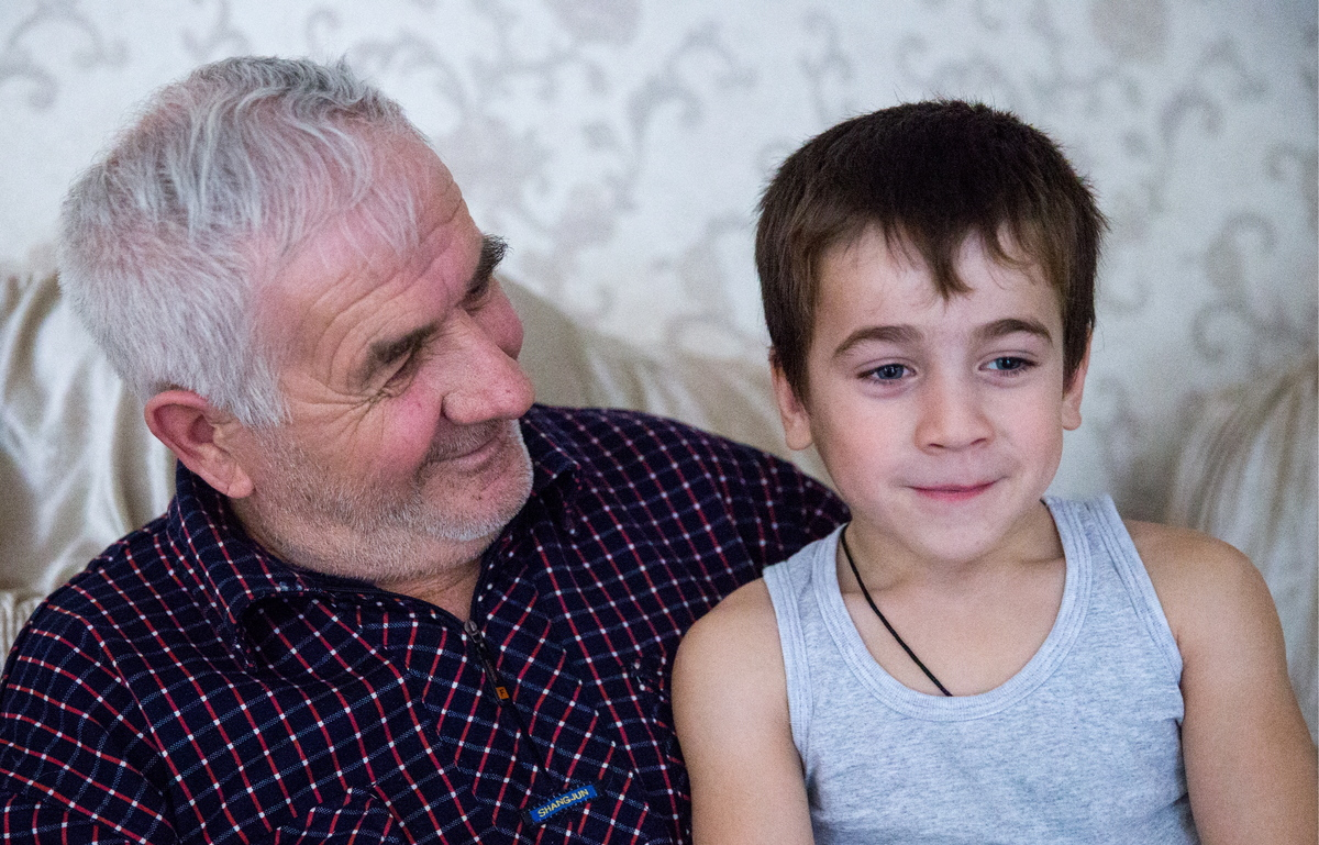 Chechen five-year-old Rakhim Kurayev who has done 4,105 push-ups in 2 hours 29 minutes