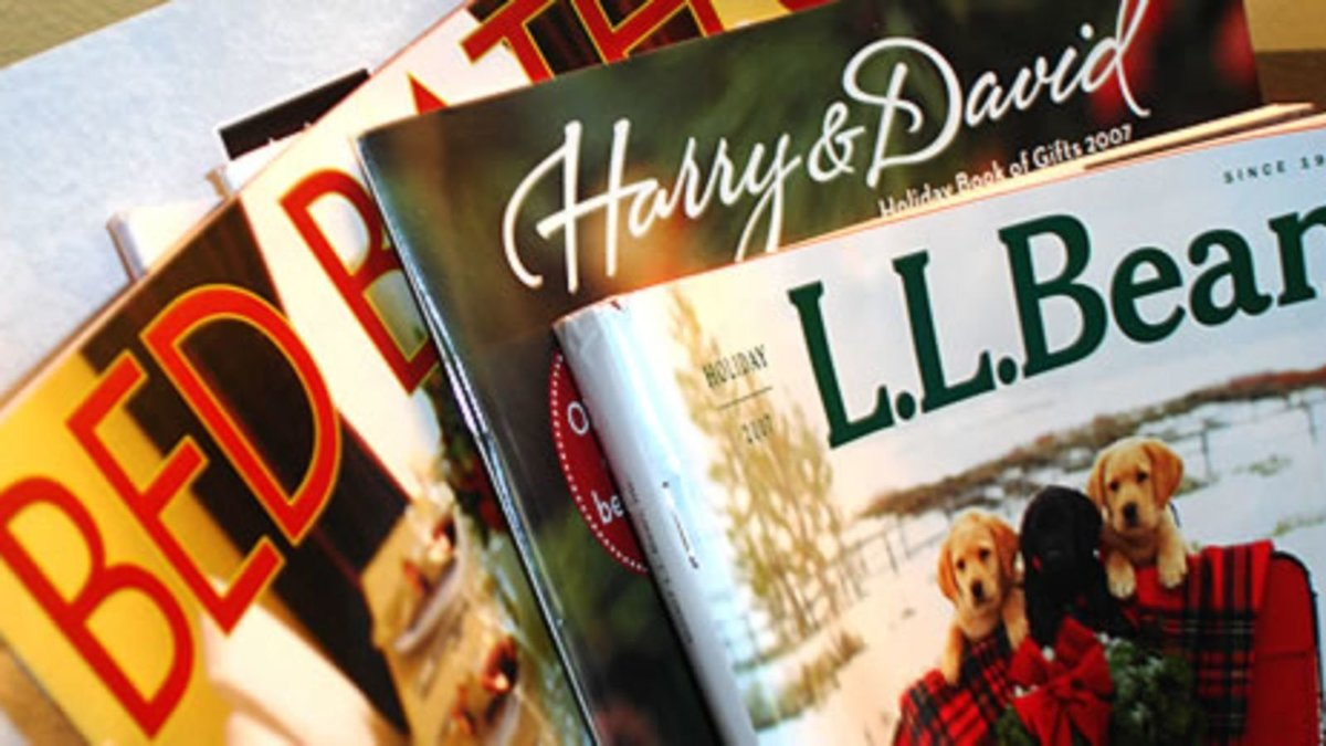 ll bean, harry & david, and bed, bath, & beyond shopping catalogs