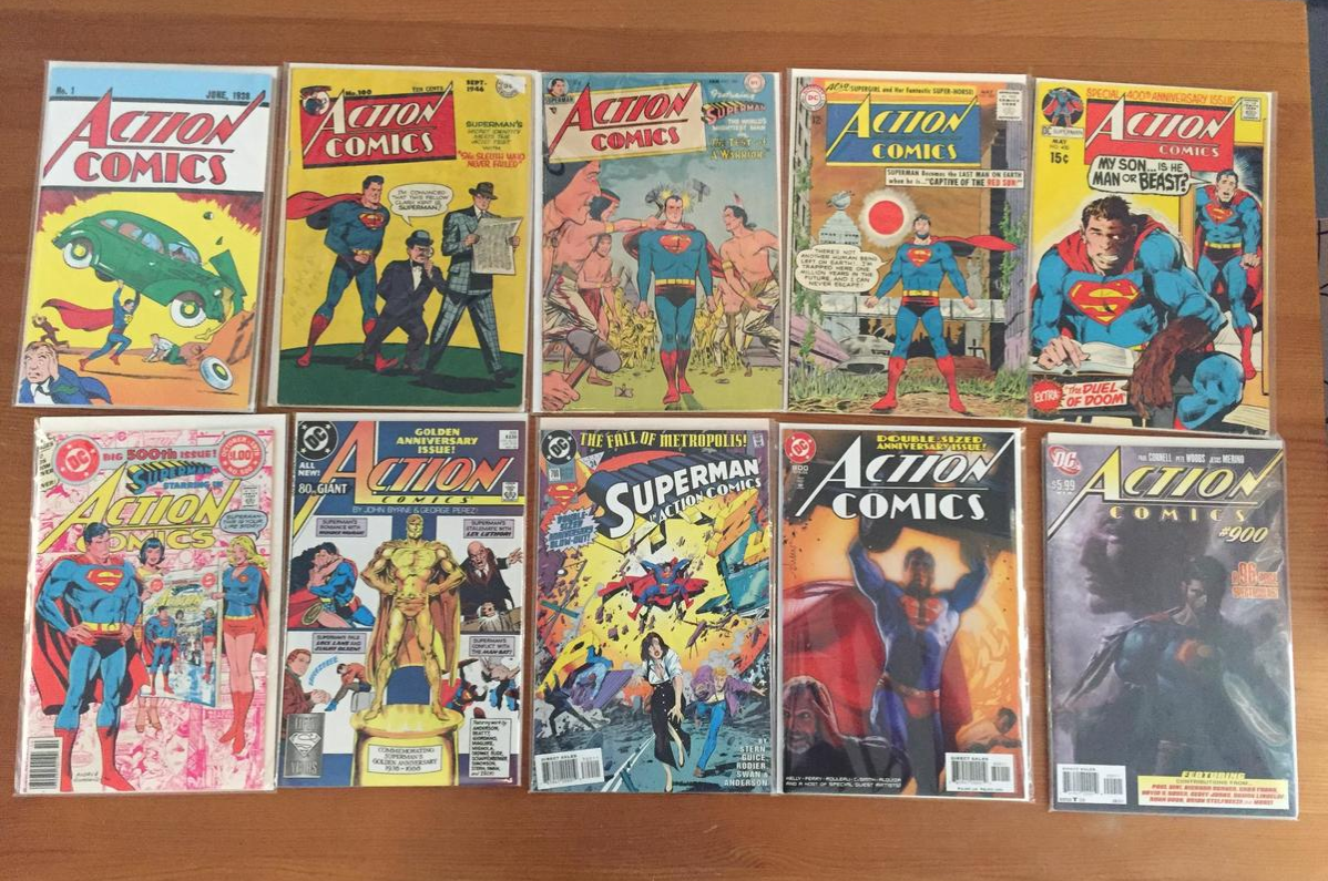 Action comics collection featuring Superman