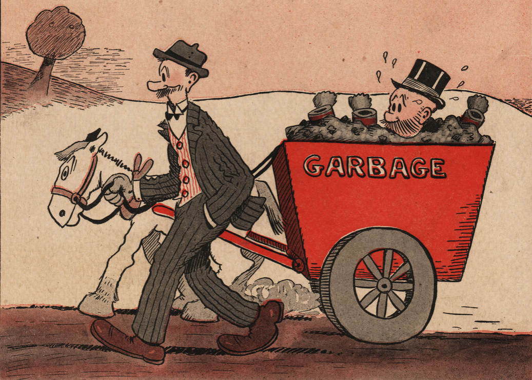 Mutt and Jeff the comic book characters appear on the back cover of this comic book, c.1923