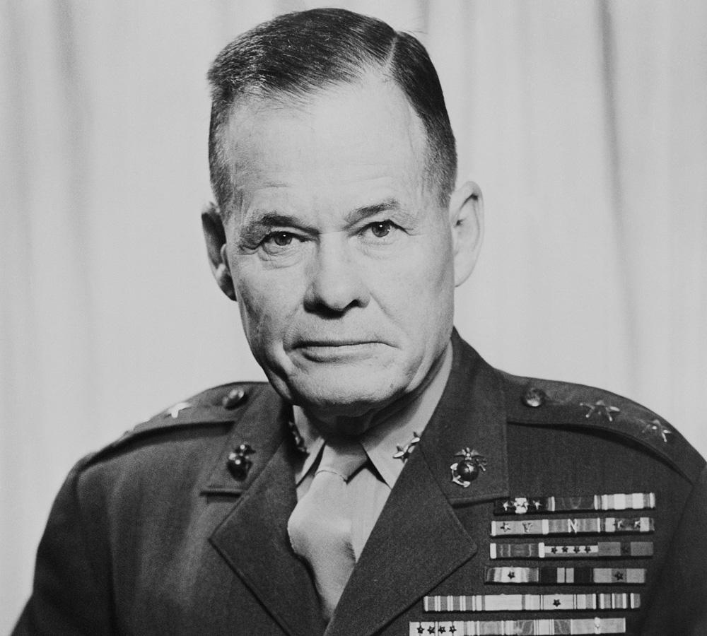 Major General Lewis B 'Chesty' Puller, USMC,